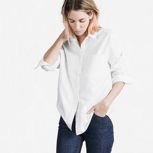 Everlane Box Shirt Button Down Oxford White Medium